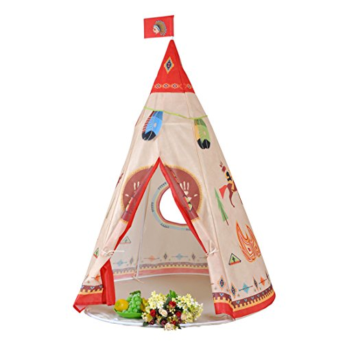 kingmountain-teepee-indian-play-tent-for-children-playhouse-for-kids-portable-tipi-easy-to-put-toget