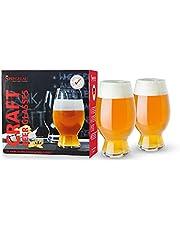 Spiegelau & Nachtmann, 2-częściowy zestaw szklanek do piwa siłowego, amerykańskie piwo / wdowód, szkło kryształowe, 750 ml, Craft Beer Glasses, 4992663