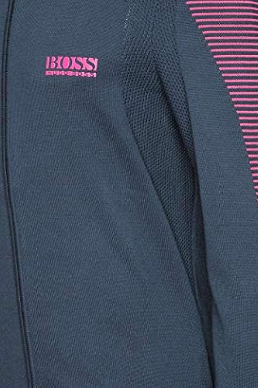 Boss Zowit męski kardigan z bawełny z zamkiem błyskawicznym i kontrastowymi detalami: Odzież