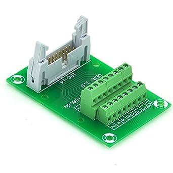 electronics salon idc16 2x8 pins 0 1 male header breakout board rh amazon com Automotive Wiring Blocks Automotive Wiring Blocks