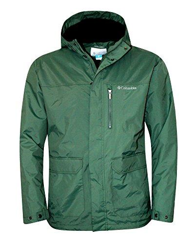 Columbia Men's Oak Springs Omni Tech Waterproof Shell Hooded Jacket (S)
