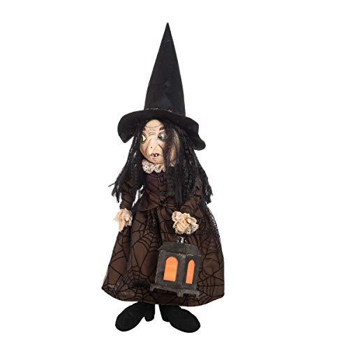 GALLERIE II Ebony Witch Joe Spencer Art Doll Figure Halloween Fall Harvest Art Doll Figure Décor Decoration Ebony Witch ()
