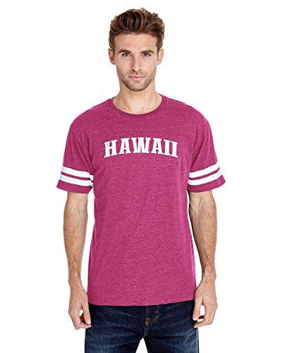 NIB Hawaiian Islands Maui Kauai OAHU Kona Hilo Big Island Men Football Fine Jersey Tee (Wholesale Cotton Kona)