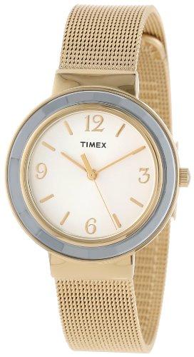 (Timex Women's T2P197KW Ameritus Gold-Tone Stainless Steel Mesh Bracelet Dress Watch)