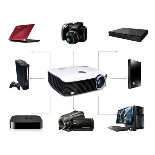 Lightinthebox@ 2600lm LCD Home Theater Business Projector 800x600 with HDMI...