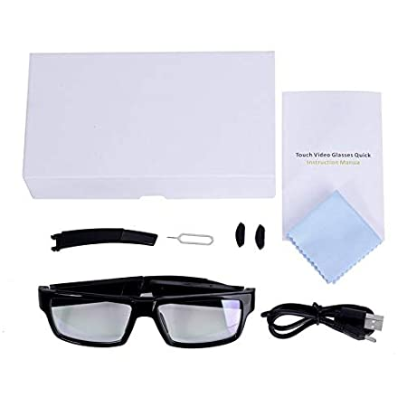 b611b49c9fb 1080P HD Touch Control Camera Glasses Rechargeable Smart Glasses Camcorder  Portable 120 Degree View Angle DV Video Recorder  Amazon.co.uk  DIY   Tools