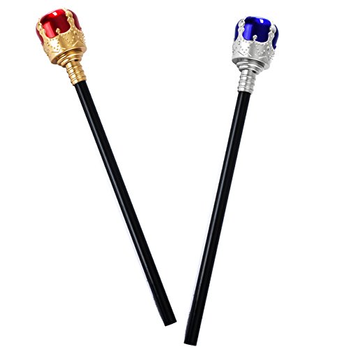 Tigerdoe Scepter - 2 Pack - Scepter Wand - Kings Scepter - Royal Costume - Kings Costume Accessories