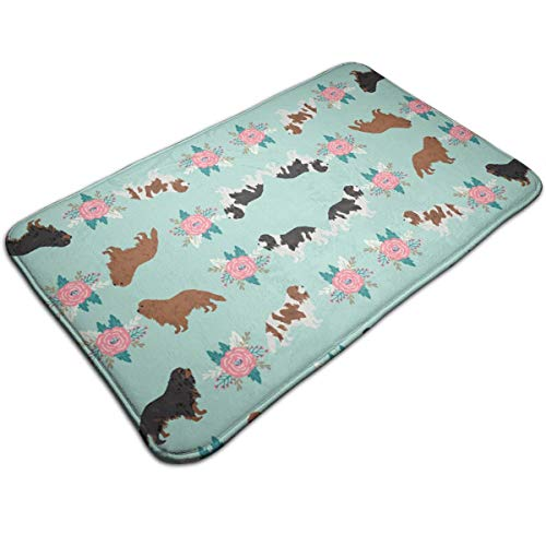 Ruwoi6 Cavalier King Charles Spaniel Dogs Cute Dog Duty Doormat, Indoor Outdoor, Waterproof, Easy Clean, Low-Profile Mats for Entry, Garage, Patio, High Traffic Areas