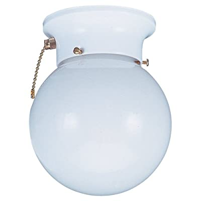 Sea Gull Lighting 5367PC-15 Flush Ceiling Light, White