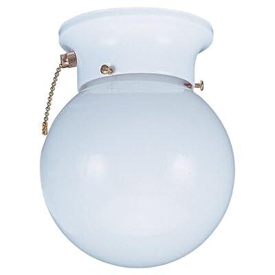 Sea Gull Lighting 5367PC-15 Flush Ceiling Light, White