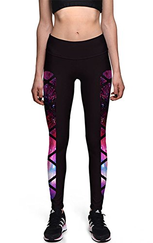 Ayliss Women Digital Print Leggings Stretch Tight Pant Ninth Pants,#1 XXL