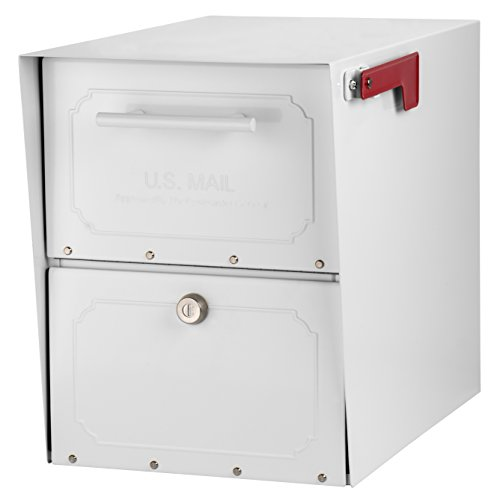 - Architectural Mailboxes Oasis Classic Large High Security Parcel Mailbox, White