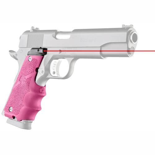 Hogue LE Government Rubber Laser Grip with Finger Grooves, Pink