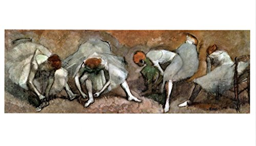 Edgar Degas Frieze of Dancers 1895 French Impressionist Oil On Fabric Painting Art Poster 12x18 inch