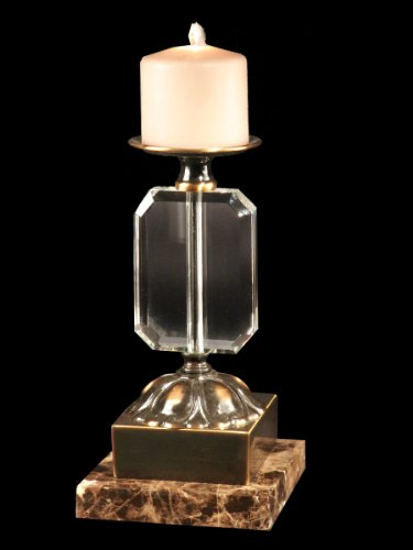 Dale Tiffany GA70067 Florence Decorative Candle Holder with Antique Brass Finish, 3-Inch by 10-1/2-Inch -