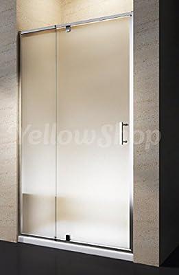 Yellowshop - Cabina de ducha con puerta corredera basculante y reversible de vidrio templado de 6 mm transparente o punteado. Medidas: 68, 78, 80, 88, 90 y 100 cm, multicolor: Amazon.es: Bricolaje y herramientas