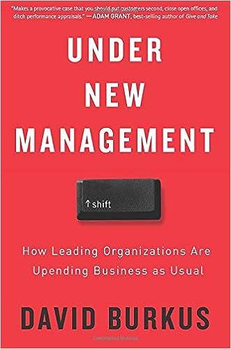 Amazon.com: Under New Management: How Leading Organizations ...