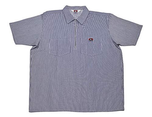 Ben Davis Short Sleeve Shirts Men Pockets Hickory Stripe Half Zipper 110