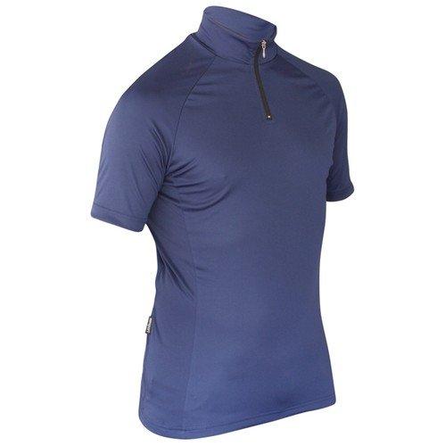 Impsport Maillot de cyclisme à manches courtes pour homme Bleu marine & Mesdames Tailles