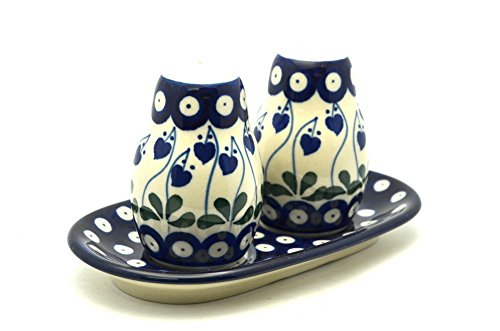Polish Pottery Salt & Pepper Set - Bleeding Heart