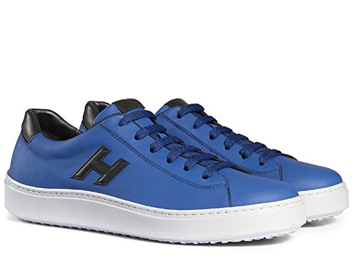cheap purchase Hogan H302 Men's Sneakers Shoes In Blue Leather - Model Number: HXM3020W550ETV809A Blue clearance good selling l5Iop