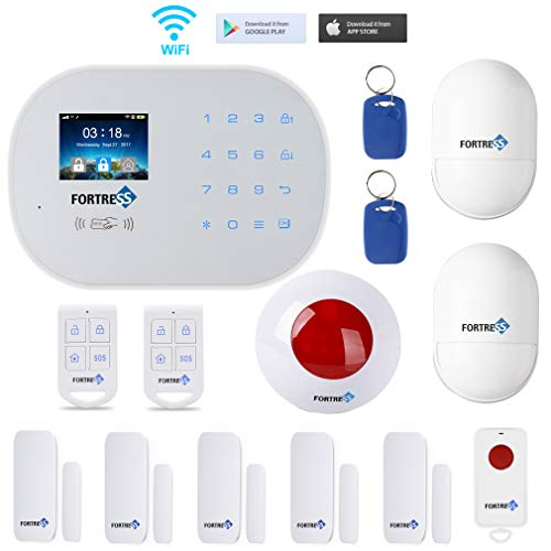 GSM 3G/4G WiFi Security Alarm System-S6 Titan Classic Kit Wireless DIY Home and Business Security System Kit by Fortress Security Store- Easy to install Security Alarm