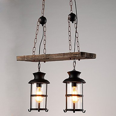 Cabezales dobles Vintage Retro Metal industrial de madera ...