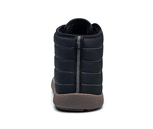 Boots Boots Neve Neve Neve Stivaletti lovejin Donna Caldo Uomo Nero Stringate Scarpe Stivali Invernali Aperta Impermeabile all'Aria Piatto AtwwIxqv