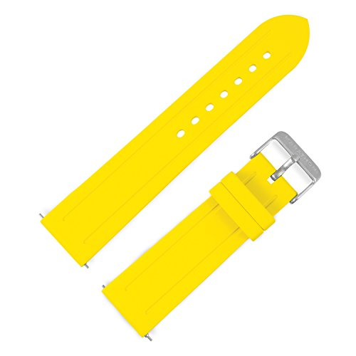 Marathon WW005008YE Divers Model Rubber Watch Band/Strap, Made in Italy. (22 mm, Yellow)