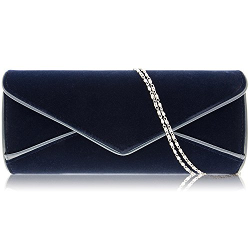 Envelope Suede Zarla UK Ladies Faux Women Bridal Clutch Handbag Designer Navy Large Evening qRFB8RwT