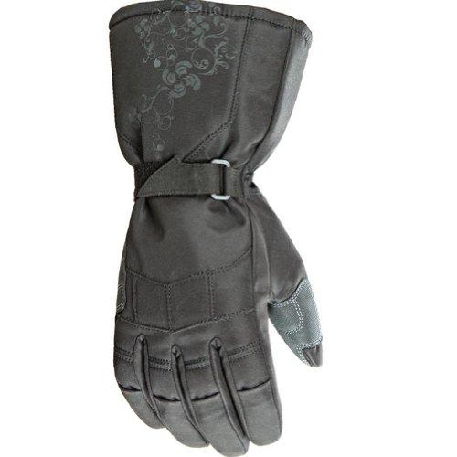 Joe Rocket Sub Zero Women's Textile Street Bike Racing Motorcycle Gloves - Black / Medium