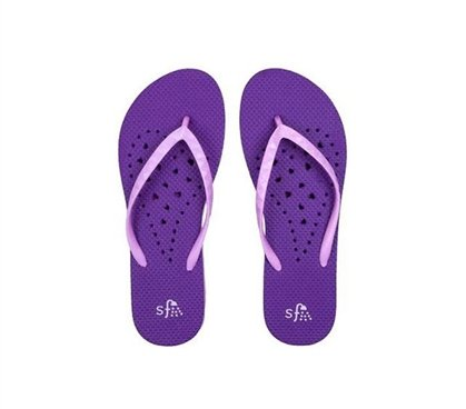 Antimicrobial Athletic Sandals - Showaflops - Women's Antimicrobial Shower Sandal - Violet/Lavender - Small (5-6)