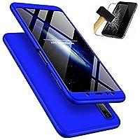 BCIT Funda Samsung Galaxy A7 2018 360 Grados Integral para Ambas Caras + Cristal Templado, Luxury 3 in 1 PC Hard Skin Carcasa Case Cover