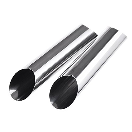 TTBD 12pcs 5 Inches Stainless Steel Cannoli Form Tubes, Cream Roll Horn Molds - Diagonal Shaped by TTBD (Image #2)