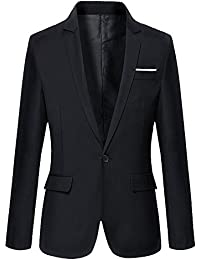 Men's Slim Fit One Button Casual Blazer Jacket