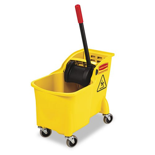 - Rubbermaid Commercial 738000YEL Tandem 31qt Bucket/Wringer Combo, Yellow