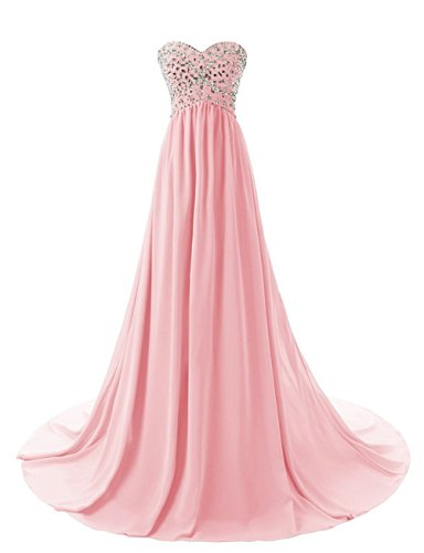 Uryouthstyle Strapless Beaded Chiffon High Low Long Sweetheart Maternity Dress by Uryouthstyle