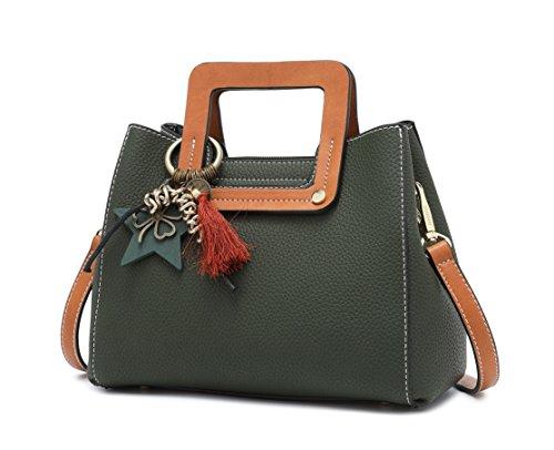Para mujer Carteras de mano Bolsos bandolera Bolsos bolera Bolsos maletín Cuero Verde