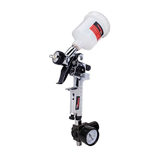 PowRyte Mini HVLP Gravity Feed Air Spray Gun with Regulator