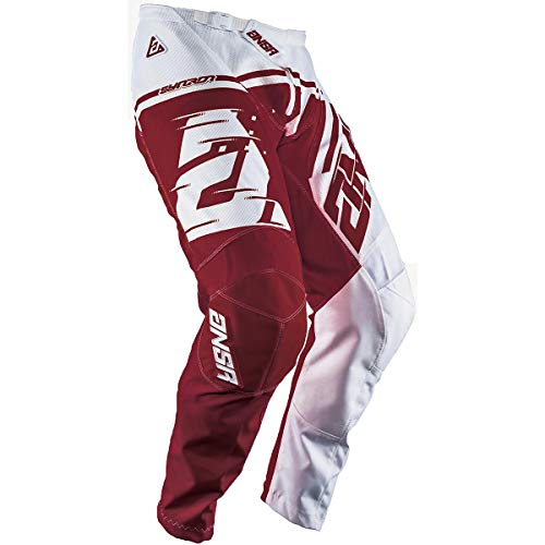 Answer Racing A18.5 Syncron Air Men's Off-Road Motorcycle Pants - White/Red / 40