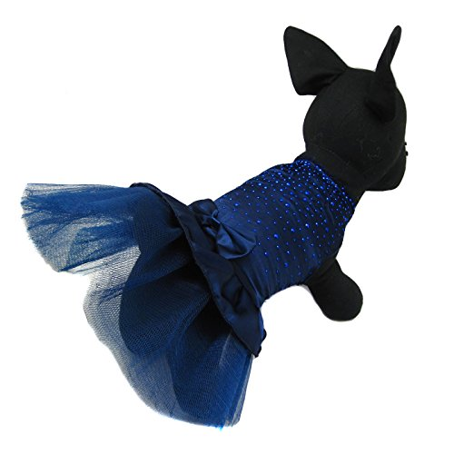 Alfie Pet by Petoga Couture - Shirley Tutu Party Dress - Color: Navy, Size: Small by Alfie (Image #5)