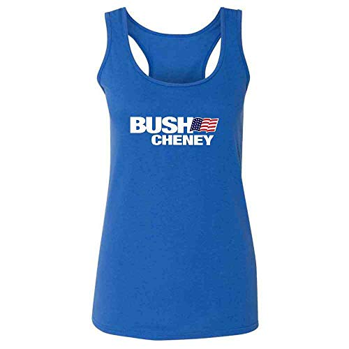 - Pop Threads George W Bush Dick Cheney President Campaign Retro Heather Royal S Womens Tank Top