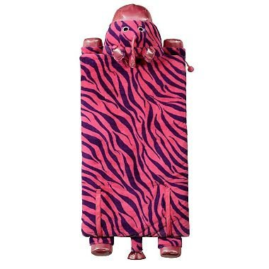 Kid's Animal Character Slumber Sleeping Bag (Pink Zebra) by Kid's Sleeping Bag