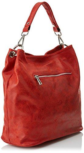 Donna Mano 80054 a cm W Rosso H 34x29x14 Chicca Borse x L x Borsa xnqRZXI