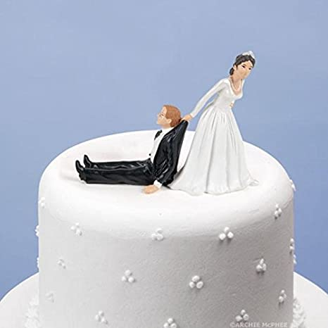 Amazon Com Accoutrements Reluctant Groom Cake Topper Toys Games