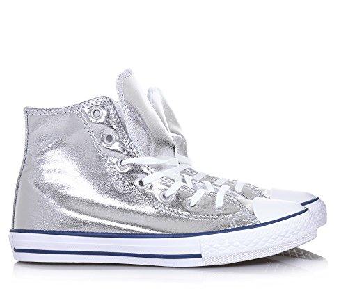 CONVERSE bebé zapatillas de deporte de alta 356835C CTAS Plata de alta Plata
