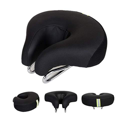 Zisen Wide Bike Saddle Seat Noseless High Resilience MTB Large Bicycle Seats Comfortable Outdoor Sports Cycling Pad Cushion for Women & Men Black by Zisen (Image #10)