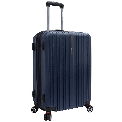 (Travelers Choice Tasmania 25 Inch Expandable Spinner Luggage, Navy)