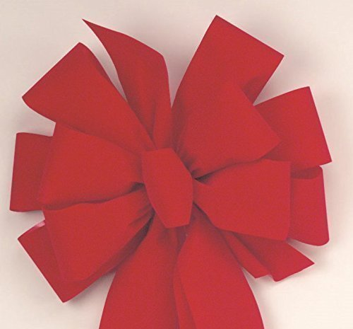 8 deluxe christmas bows 1125 ea free shipping large red velvet bows 11 - How To Make Christmas Bows Out Of Ribbon