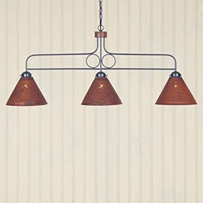 Large Rustic Tin Franklin Hanging Light
